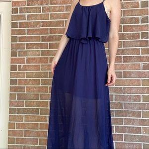 Xhilaration Navy Maxi Dress